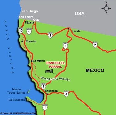 Rancho el Parral Driving Directions